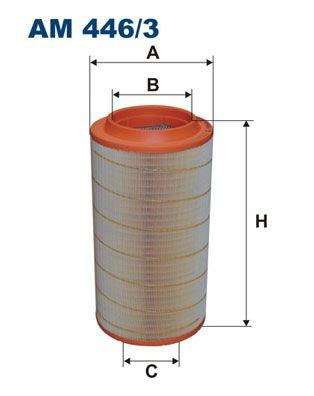 Kup FILTRON Filtr powietrza AM 446/3 do ERF w umiarkowanej cenie