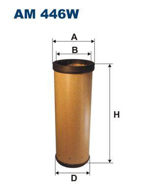 FILTRON Filtro aria secondaria per MAZ-MAN – numero articolo: AM 446W