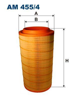 FILTRON Filtr powietrza do SCANIA - numer produktu: AM 455/4