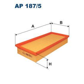 AP 187/5 FILTRON Länge: 294mm, Breite: 142mm, Höhe: 49mm Luftfilter AP 187/5 günstig kaufen