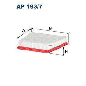 AP 193/7 FILTRON Länge: 256mm, Breite: 191,5mm, Breite 2: 201mm, Höhe: 49,5mm Luftfilter AP 193/7 günstig kaufen