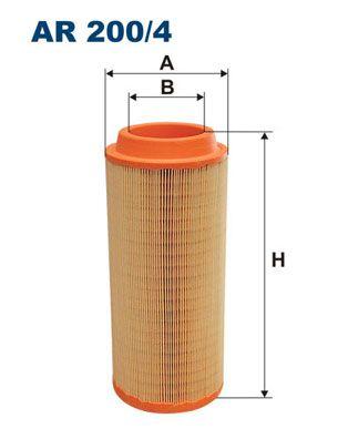 FILTRON Luftfilter passend für MERCEDES-BENZ - Artikelnummer: AR 200/4