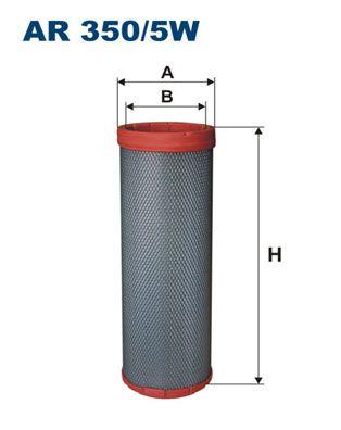 FILTRON Sekundärluftfilter für TERBERG-BENSCHOP - Artikelnummer: AR 350/5W