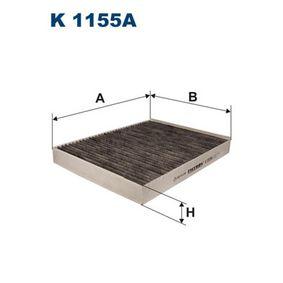 K 1155A FILTRON Breite: 216mm, Höhe: 34mm, Länge: 276mm Filter, Innenraumluft K 1155A günstig kaufen