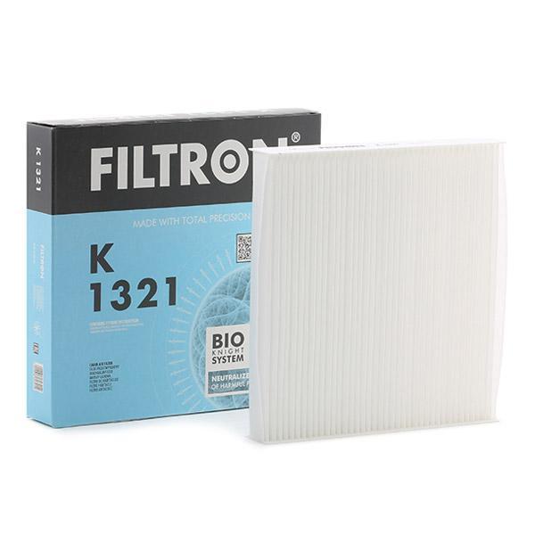 K 1321 FILTRON Partikelfilter Breite: 213mm, Höhe: 34mm, Länge: 200mm Filter, Innenraumluft K 1321 günstig kaufen