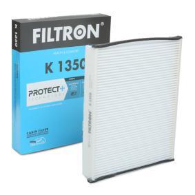 K 1350 FILTRON Breite: 202mm, Höhe: 35mm, Länge: 259mm Filter, Innenraumluft K 1350 günstig kaufen