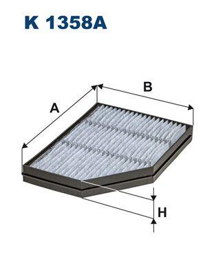 FILTRON Filtr, wentylacja przestrzeni pasażerskiej do MERCEDES-BENZ - numer produktu: K 1358A