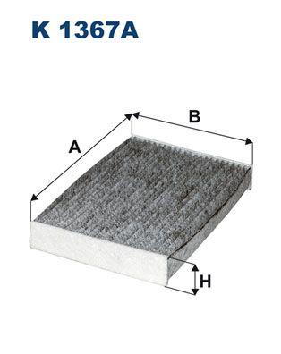 Achat de K 1367A FILTRON Filtre à charbon actif Largeur: 181mm, Hauteur: 36mm, Longueur: 250mm Filtre, air de l'habitacle K 1367A pas chères