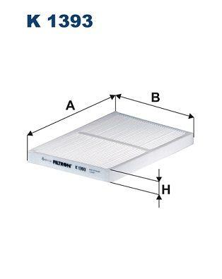 FILTRON: Original Klimafilter K 1393 (Breite: 196mm, Höhe: 21mm, Länge: 272mm)
