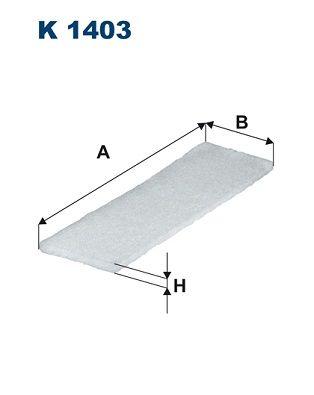FILTRON Filter, Innenraumluft für MERCEDES-BENZ - Artikelnummer: K 1403