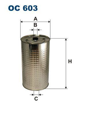 FILTRON: Original Ölfilter OC 603 (Innendurchmesser 2: 14mm, Innendurchmesser 2: 14mm, Ø: 112mm, Höhe: 202mm)