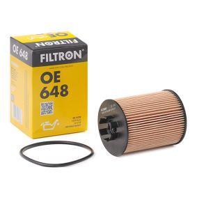Achat de OE 648 FILTRON Cartouche filtrante Diamètre intérieur 2: 28mm, Diamètre intérieur 2: 30,5mm, Ø: 62,5mm, Hauteur: 88,5mm Filtre à huile OE 648 pas chères