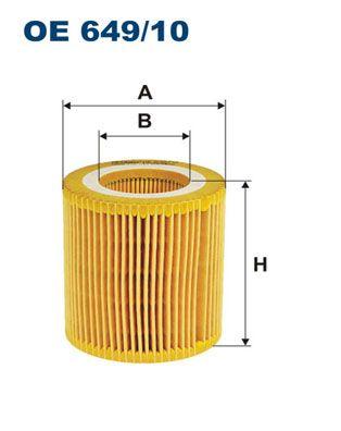 OE 649/10 FILTRON Innendurchmesser: 41mm, Ø: 73,5mm, Höhe: 79mm Ölfilter OE 649/10 günstig kaufen