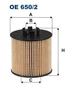 Motorölfilter FILTRON OE 650/2