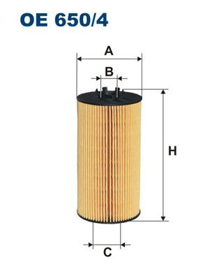 Motorölfilter FILTRON OE 650/4
