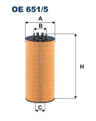 Ölfilter FILTRON OE 651/5 mit 15% Rabatt kaufen