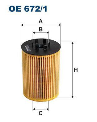 Motorölfilter FILTRON OE 672/1