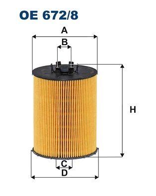 Ölfilter FILTRON OE 672/8
