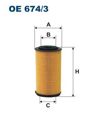 Original HYUNDAI Oil filter OE 674/3