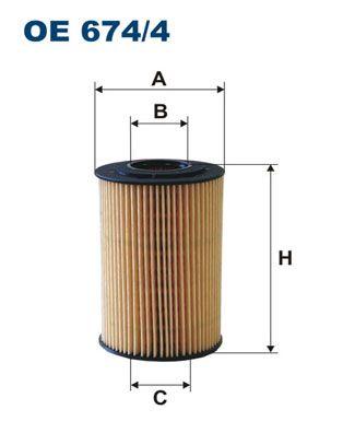 Original HYUNDAI Oil filter OE 674/4