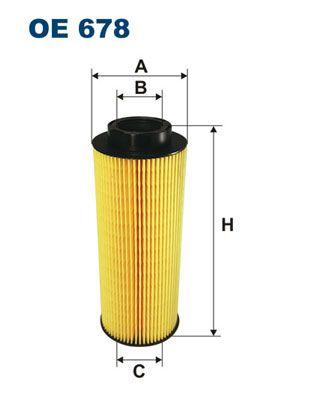 FILTRON Filtr oleju do SCANIA - numer produktu: OE 678