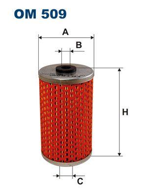 Comprare OM 509 FILTRON Cartuccia filtro Diametro interno 2: 10mm, Diametro interno 2: 19,5mm, Ø: 59mm, Alt.: 105mm Filtro olio OM 509 poco costoso