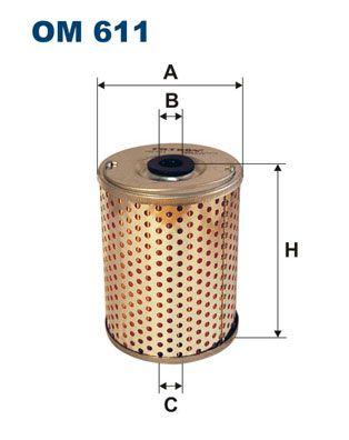 Originali Filtro idraulico sterzo OM 611 Fiat