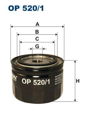 Achetez Filtre à huile FILTRON OP 520/1 (Diamètre intérieur 2: 72, 72,5mm, Diamètre intérieur 2: 62,5mm, Ø: 93,5mm, Hauteur: 70mm) à un rapport qualité-prix exceptionnel