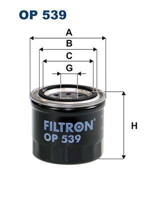 FILTRON: Original Ölfilter OP 539 (Innendurchmesser 2: 63mm, Innendurchmesser 2: 55mm, Ø: 83mm, Höhe: 74mm)