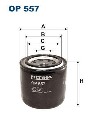 OP 557 FILTRON Anschraubfilter Innendurchmesser 2: 63mm, Innendurchmesser 2: 55mm, Ø: 83mm, Höhe: 82mm Ölfilter OP 557 günstig kaufen
