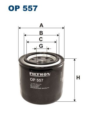 Original HYUNDAI Oil filter OP 557