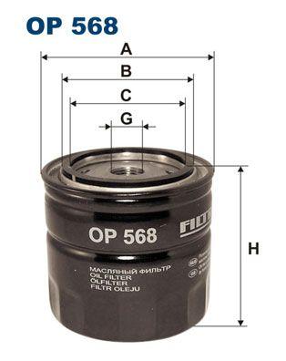 OP 568 FILTRON Filtre à huile pour VOLVO N 12 - à acheter dès maintenant