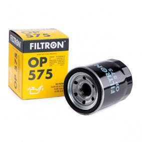 OP 575 FILTRON mit einem Rücklaufsperrventil Innendurchmesser 2: 63mm, Innendurchmesser 2: 55mm, Ø: 69,5mm, Höhe: 85mm Ölfilter OP 575 günstig kaufen