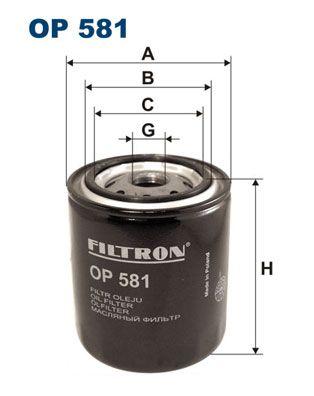 OP 581 FILTRON Anschraubfilter Innendurchmesser 2: 63mm, Innendurchmesser 2: 55mm, Ø: 83mm, Höhe: 98mm Ölfilter OP 581 günstig kaufen