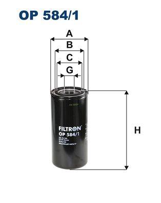 FILTRON Filtro olio OP 584/1