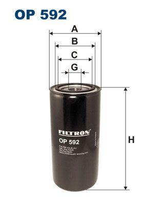FILTRON: Original Motorölfilter OP 592 (Innendurchmesser 2: 72mm, Innendurchmesser 2: 62,5mm, Ø: 95mm, Höhe: 202mm)