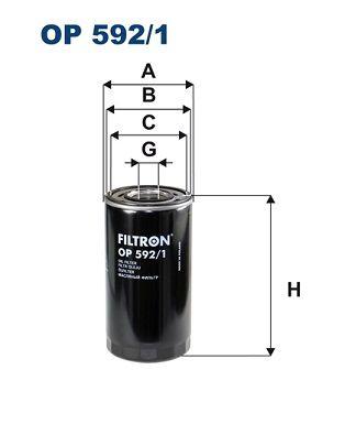 FILTRON Filtro olio OP 592/1 acquisti con uno sconto del 15%