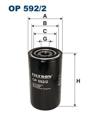 OP 592/2 FILTRON Ölfilter für DAF F 1000 jetzt kaufen