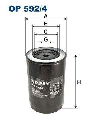 FILTRON Oil Filter OP 592/4