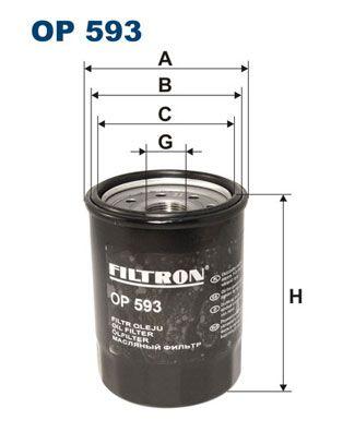 FILTRON: Original Motorölfilter OP 593 (Innendurchmesser 2: 76mm, Innendurchmesser 2: 67mm, Ø: 80mm, Höhe: 112,5mm)