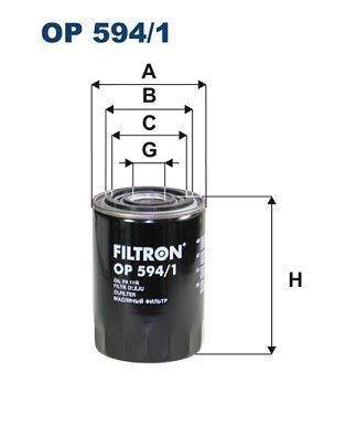 OP 594/1 FILTRON Anschraubfilter Innendurchmesser 2: 72mm, Innendurchmesser 2: 62mm, Ø: 94mm, Höhe: 131mm Ölfilter OP 594/1 günstig kaufen