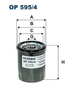 OP 595/4 FILTRON Anschraubfilter Innendurchmesser 2: 63mm, Innendurchmesser 2: 55mm, Ø: 69mm, Höhe: 86mm Ölfilter OP 595/4 günstig kaufen