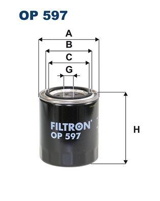 OP 597 FILTRON Anschraubfilter Innendurchmesser 2: 63mm, Innendurchmesser 2: 55mm, Ø: 83mm, Höhe: 98mm Ölfilter OP 597 günstig kaufen