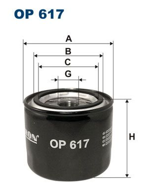 Oil Filter OP 617 from FILTRON
