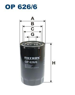 FILTRON Oliefilter til SCANIA - vare number: OP 626/6