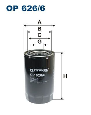 OP 626/6 FILTRON Oil Filter for IVECO EuroCargo IV - buy now
