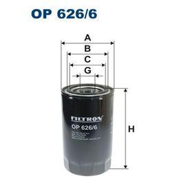 OP 626/6 FILTRON Anschraubfilter Innendurchmesser 2: 72mm, Innendurchmesser 2: 62mm, Ø: 93,5mm, Höhe: 168mm Ölfilter OP 626/6 günstig kaufen