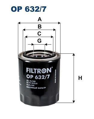 Original HYUNDAI Oil filter OP 632/7