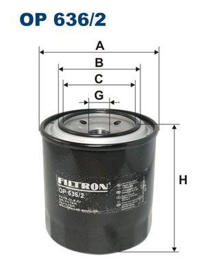 FILTRON Oil Filter for MITSUBISHI - item number: OP 636/2