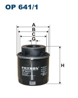 Ölfilter FILTRON OP 641/1